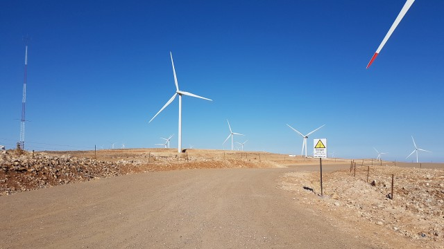 Windräder in Jordanien