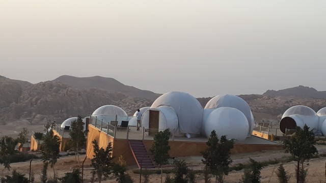 Bubble Camp in Jordanien