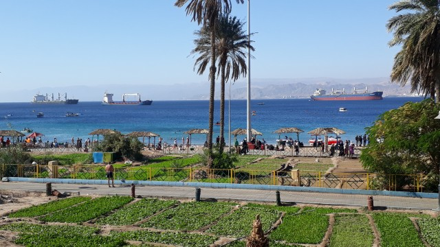 Aqaba in Jordanien am Roten Meer