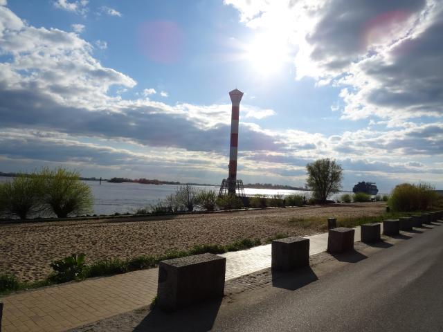Strand in Blankenese an der Elbe